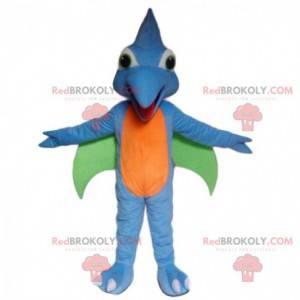 Mascote de dinossauro voador, fantasia de pássaro pré-histórico