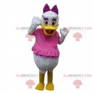 Daisy mascot, famous duck, girlfriend of Donald Duck -