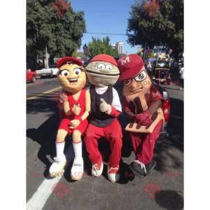 3 atypical and smiling mascots - Redbrokoly.com