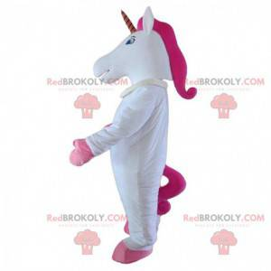 White and pink unicorn mascot, fairy costume - Redbrokoly.com