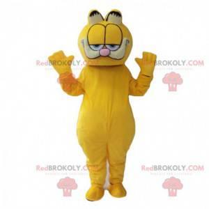 Mascote Garfield, o famoso desenho animado do gato laranja -