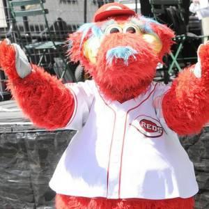 Maskot stor rød hund alle behåret - Redbrokoly.com