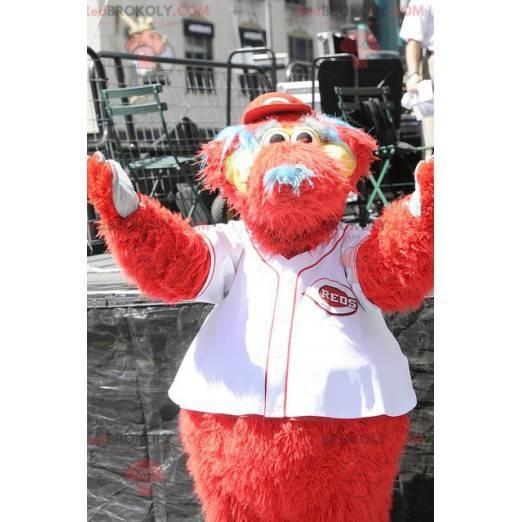 Mascot big red dog all hairy - Redbrokoly.com