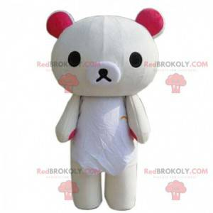 Mascota de oso de peluche beige grande, disfraz de oso de