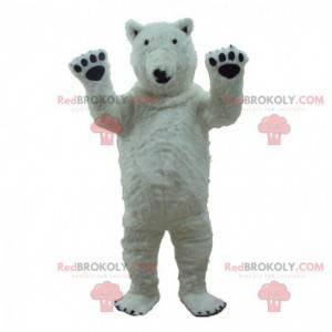 Mascotte orso polare, costume da orso polare gigante -