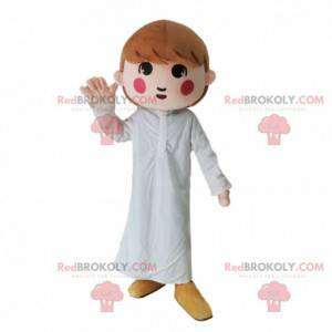 Mädchen Maskottchen mit weißen Pyjamas, Mädchen Kostüm -