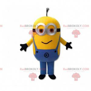 Minions mascot, famous character dressed in overalls -