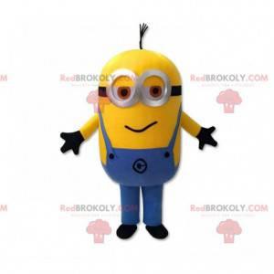 Minions maskot, berømt karakter klædt i overalls -