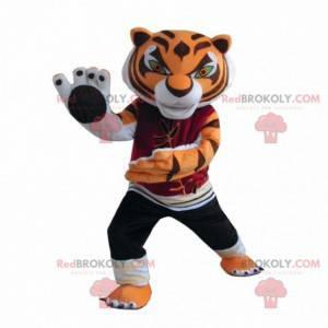 Mascote da Tigresa Mestre, famoso tigre no panda Kung fu -