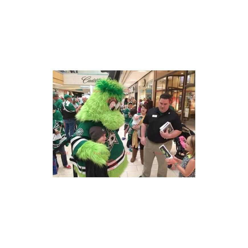 Alles haarige grüne Monster Maskottchen - Redbrokoly.com