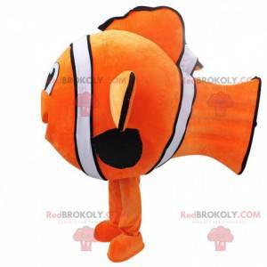 Mascote Nemo. Mascote do peixe-palhaço. Cosplay de peixe -