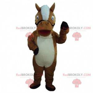 Brown and white horse mascot, horse costume - Redbrokoly.com