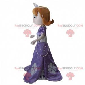 Princess Sofia mascot, princess from Walt Disney TV series -