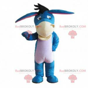 Mascote Eeyore, famoso burro azul no Ursinho Pooh -
