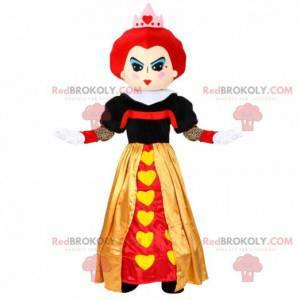 Alice nel paese delle meraviglie mascotte della regina di cuori