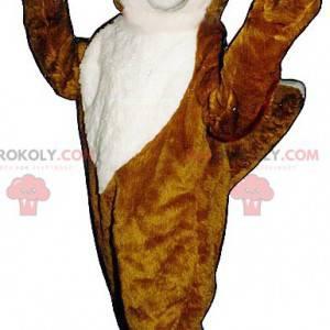 Oranje en witte vos mascotte - Redbrokoly.com