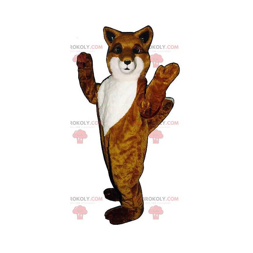 Orange und weißer Fuchs Maskottchen - Redbrokoly.com