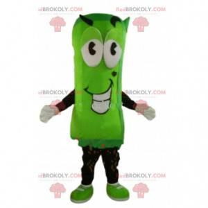 Grünes Gemüsemaskottchen, grünes Charakterkostüm -