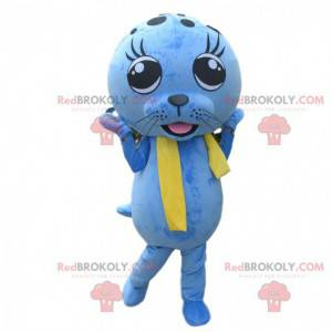 Blå søløve maskot, søløve kostume, blå maskot - Redbrokoly.com