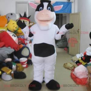 Witte en zwarte koe mascotte - Redbrokoly.com