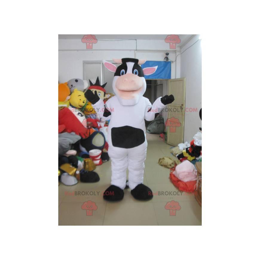 Maskot bílá a černá kráva - Redbrokoly.com