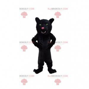 Schwarzes Panther-Maskottchen, riesiges Katzenkostüm -