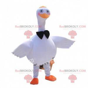 Mascota del ganso gigante, disfraz de pájaro blanco grande -