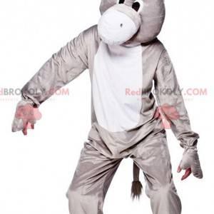 Grijze en witte ezel mascotte - Redbrokoly.com