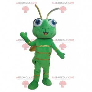 Firefly mascot, green insect, flying animal costume -