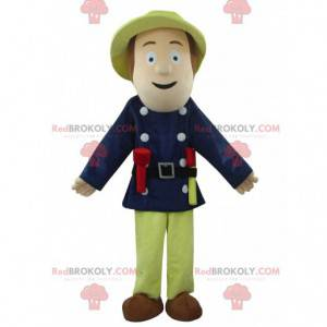 Brandmand maskot, mand kostume, redder - Redbrokoly.com
