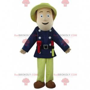 Firefighter mascot, man costume, rescuer - Redbrokoly.com