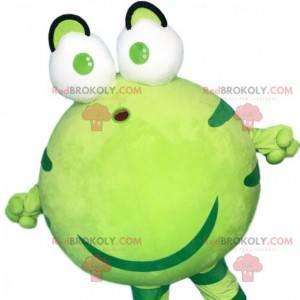 Mollige en gigantische groene kikker mascotte, paddenkostuum -