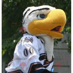 Hermosa mascota águila blanca y amarilla - Redbrokoly.com