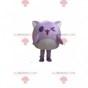 Mascota gato morado, disfraz de criatura morada - Redbrokoly.com