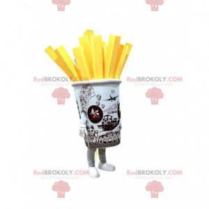 Mascote cone de batata frita gigante, fantasia de batata frita