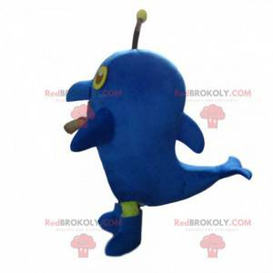 Riesiges blaues Delphinmaskottchen, Seekostüm - Redbrokoly.com