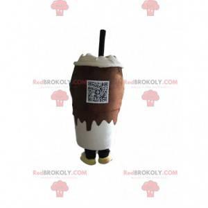 Mascote da bebida de chocolate, fantasia de café Liège -