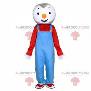 Mascote Tchoupi, famoso pinguim de desenho animado -