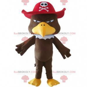 Maskot orel s pirátskou čepicí, ptačí kostým - Redbrokoly.com