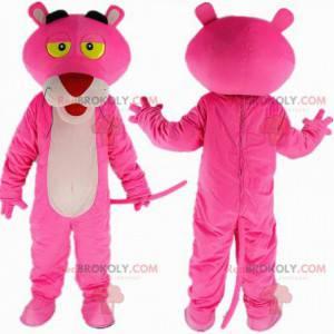 Mascote da pantera rosa, personagem de desenho animado famoso -