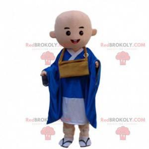 Plešatý buddhistický mnich maskot, buddhismus kostým -