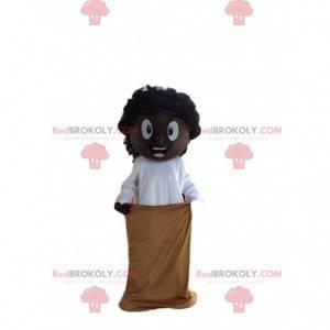 Menino mascote africano, fantasia de criança africana -