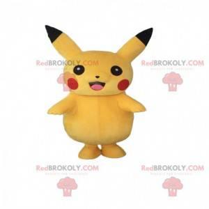 Mascote Pikachu, o famoso Pokémon de mangá amarelo -