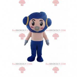 Mascota robot con chupete, disfraz de bebé futurista -
