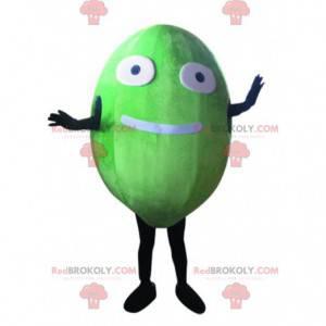 Mascota de melón, disfraz de fruta ovalada gigante y divertida