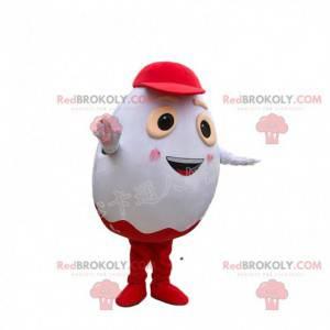 Mascot Kinder Egg, beroemd wit en rood chocolade-ei -