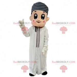 Mascota del hombre oriental, traje magrebí, musulmán -