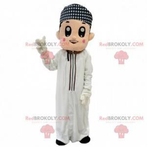 Oosterse man mascotte, Maghrebijns kostuum, moslim -