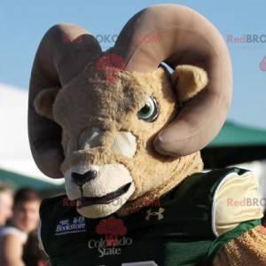 Beżowo-brązowa maskotka koza - Redbrokoly.com