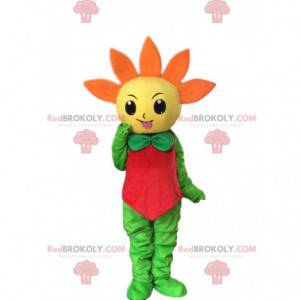 Obří žlutý a oranžový květ maskot, jarní kostým - Redbrokoly.com